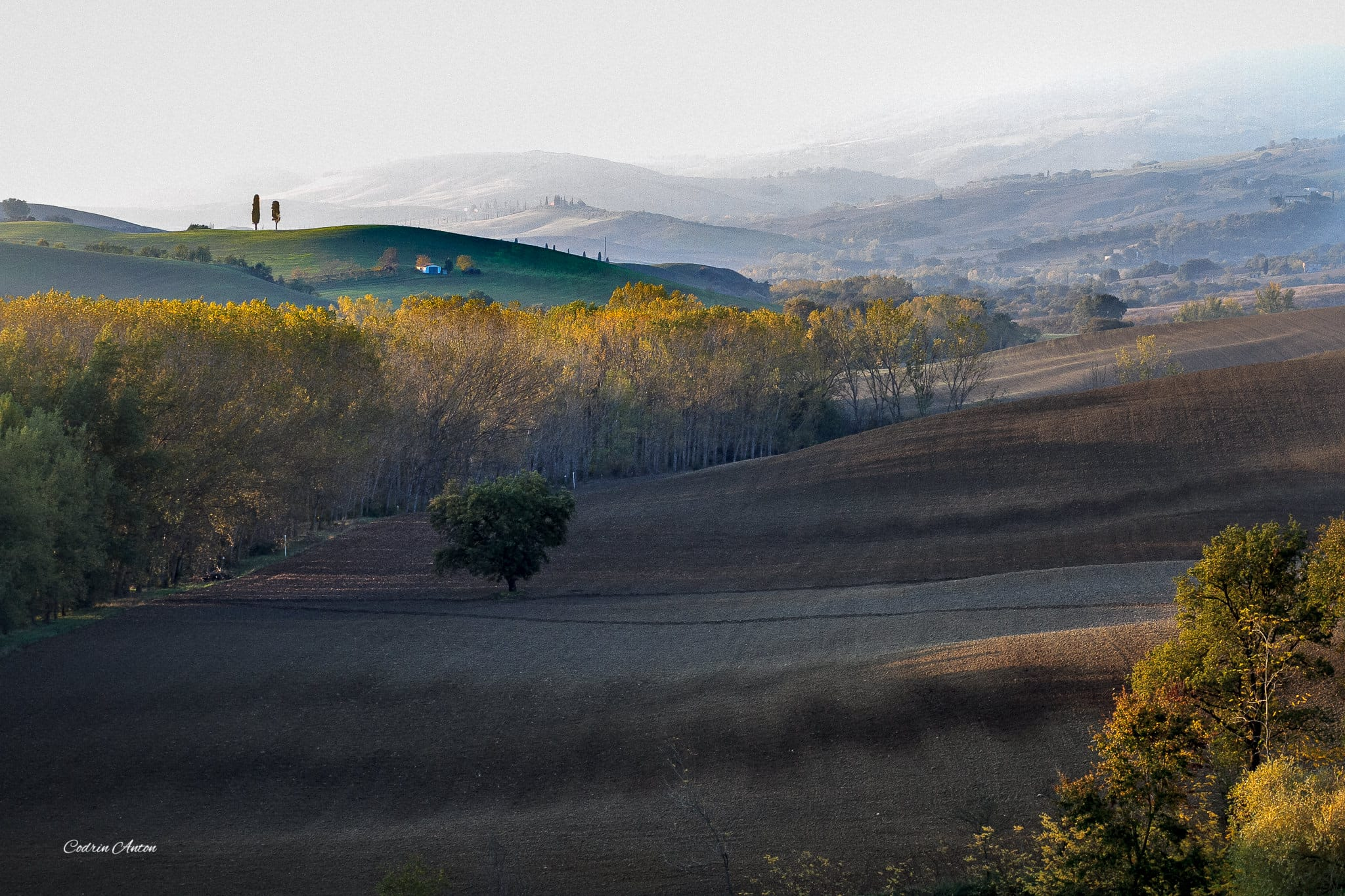 Răsărit de toamnă în Toscana